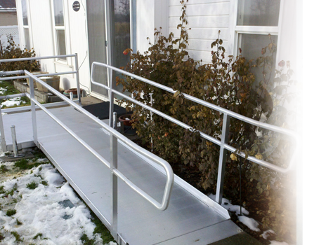 Boston Walk In Bath And Stairlift Company Offers Portable Modular Aluminum Wheelchair Ramp Systems