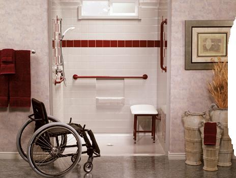 wheelchair shower